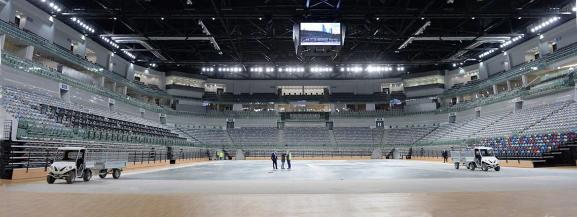 Alke' ATX range on National Gymnastics Arena Baku